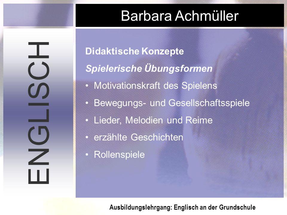 ENGLISCH Didaktische Konzepte Spielerische Übungsformen