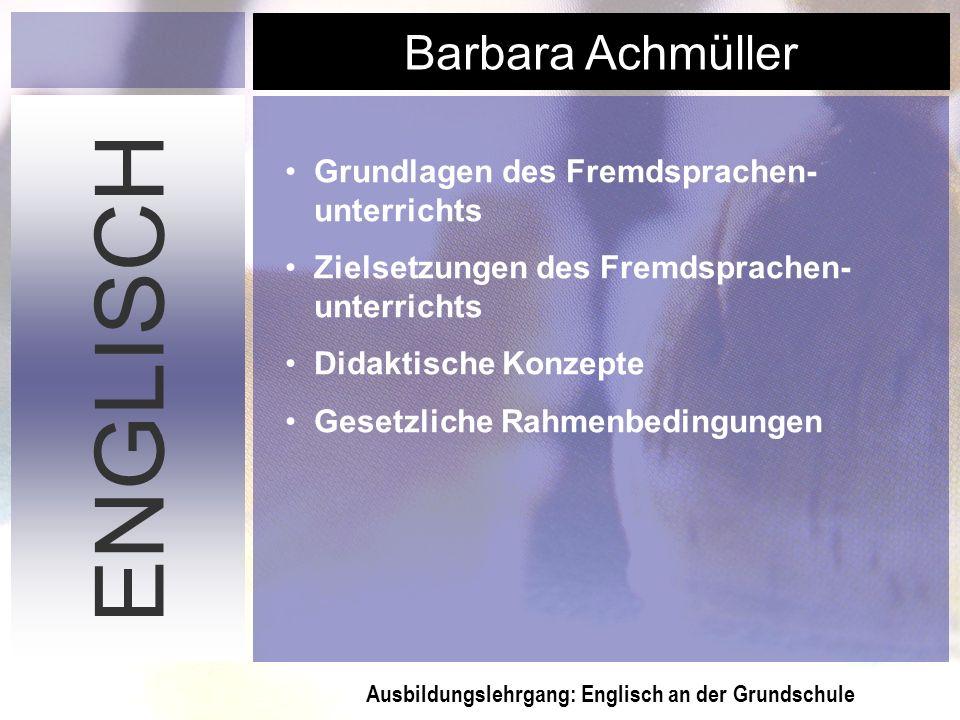 ENGLISCH Grundlagen des Fremdsprachen-unterrichts
