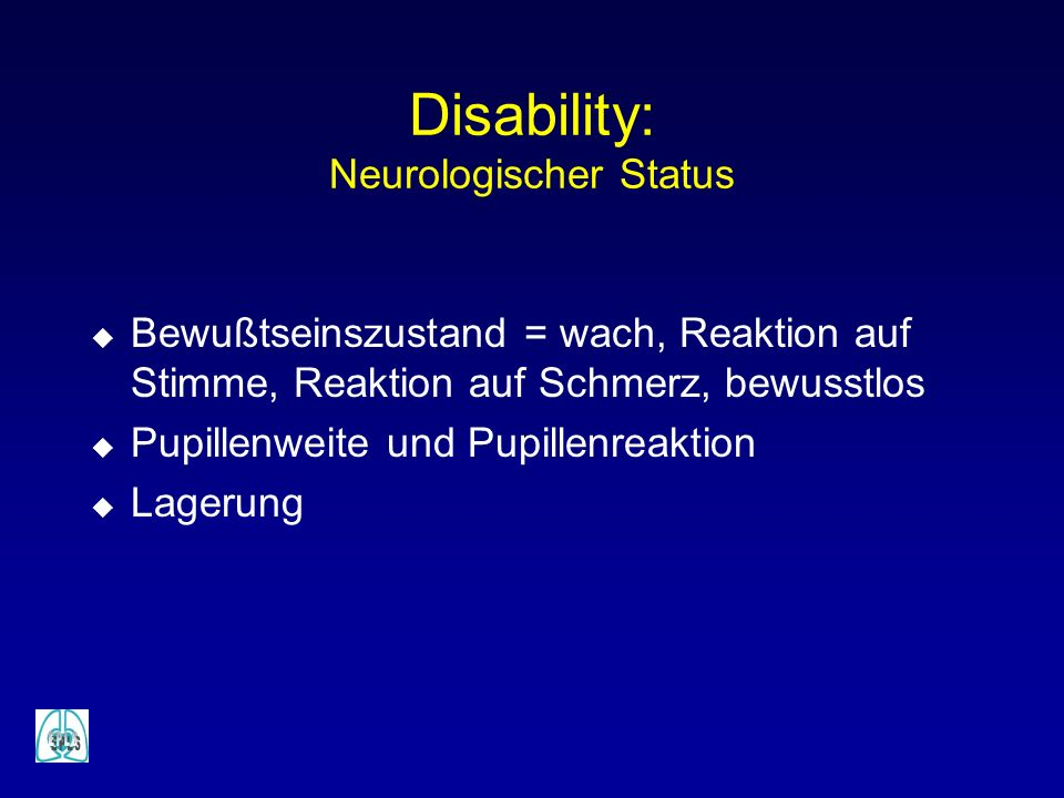 Disability: Neurologischer Status