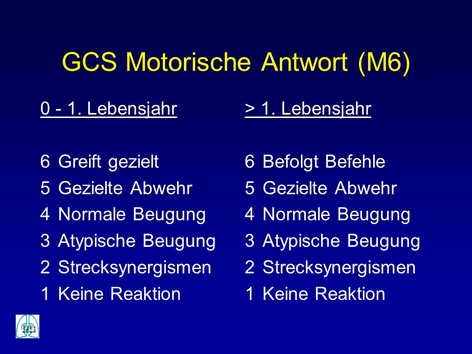 GCS Motorische Antwort (M6)