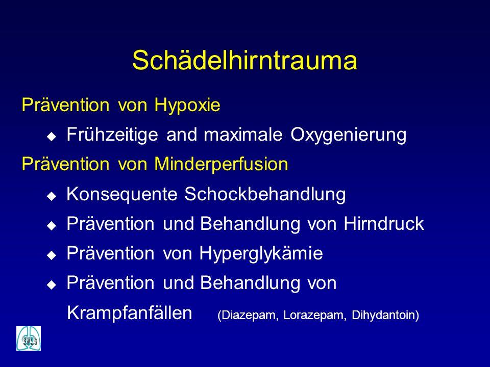 Schädelhirntrauma Prävention von Hypoxie