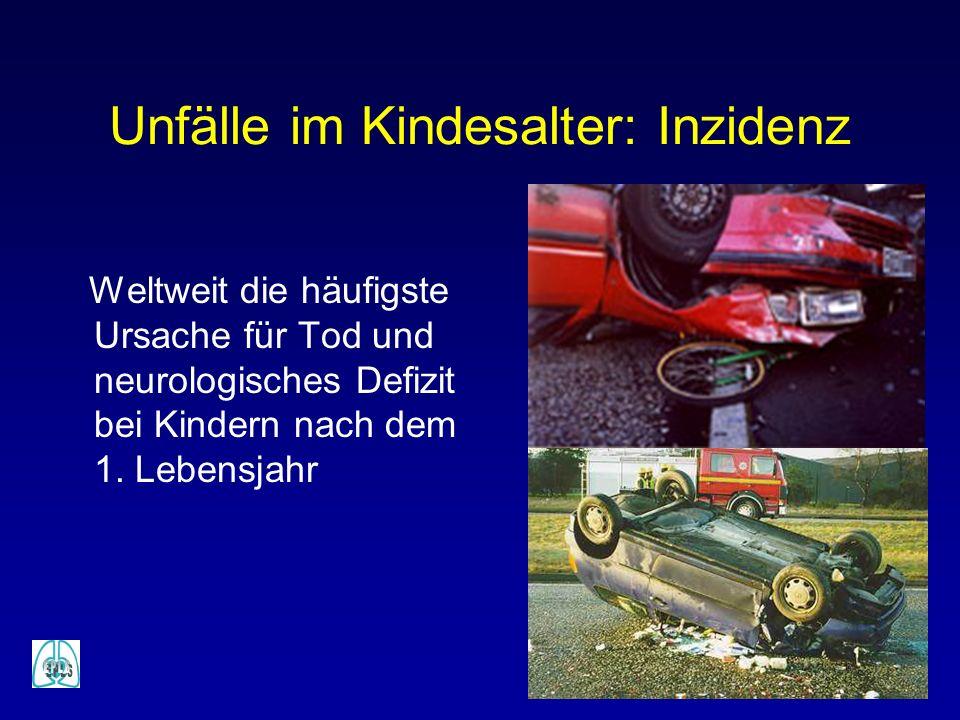 Unfälle im Kindesalter: Inzidenz