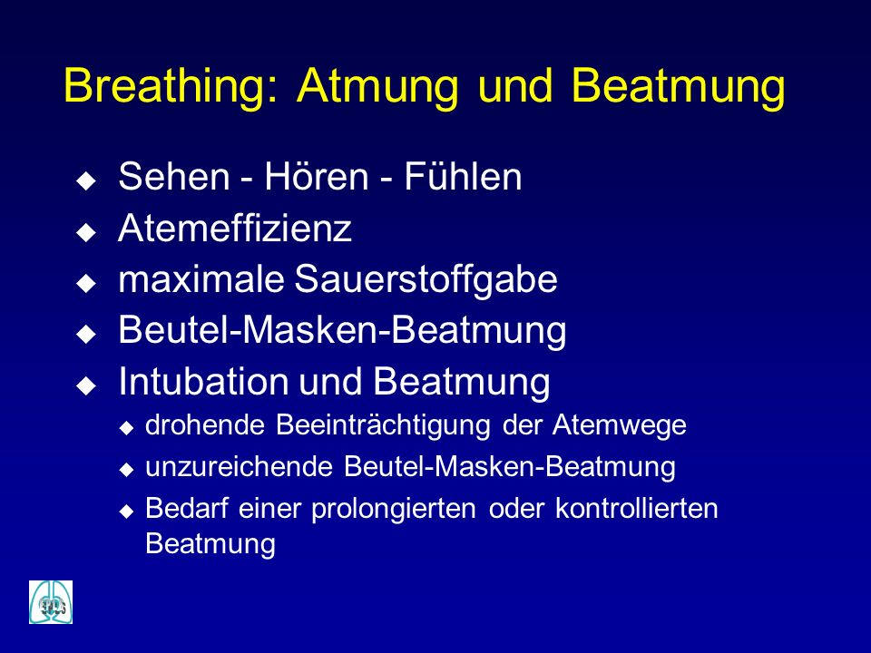 Breathing: Atmung und Beatmung