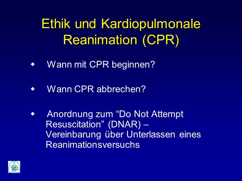 Ethik und Kardiopulmonale Reanimation (CPR)