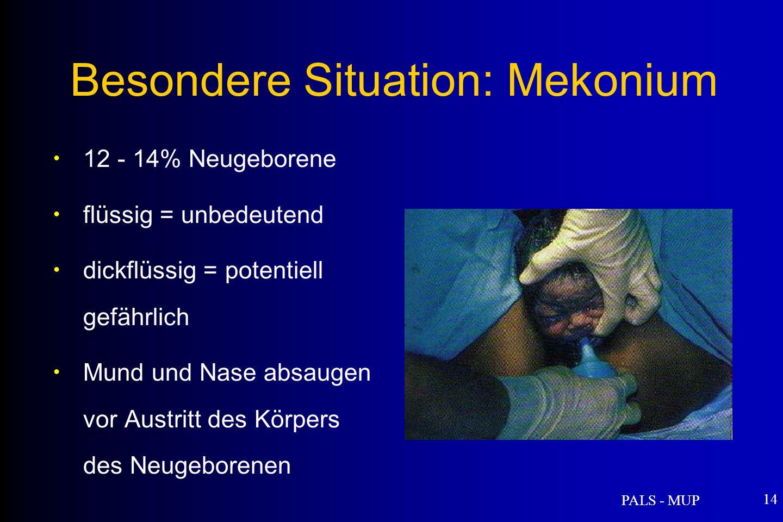 Besondere Situation: Mekonium