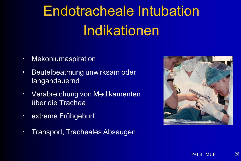 Endotracheale Intubation Indikationen