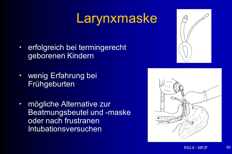 Larynxmaske erfolgreich bei termingerecht geborenen Kindern