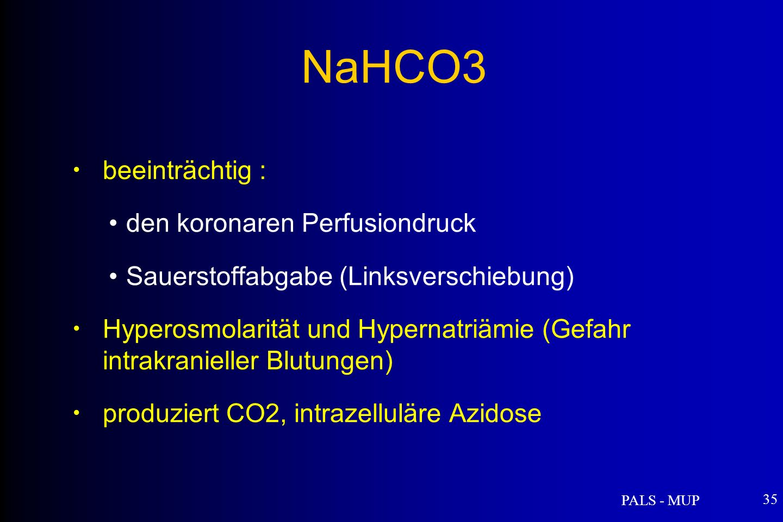 NaHCO3 beeinträchtig : den koronaren Perfusiondruck