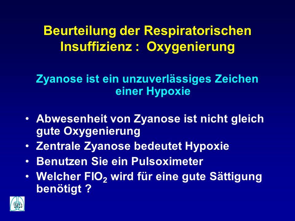 Beurteilung der Respiratorischen Insuffizienz : Oxygenierung