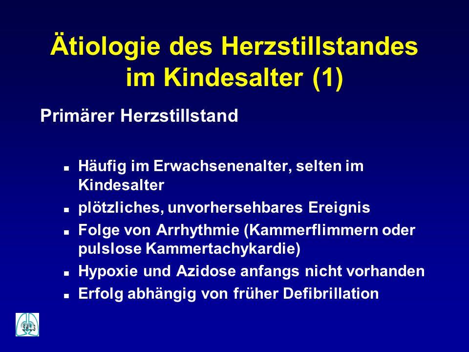 Ätiologie des Herzstillstandes im Kindesalter (1)