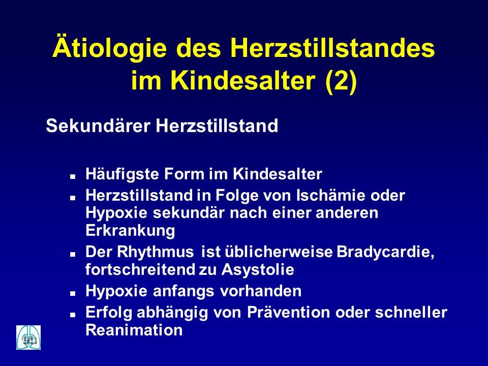 Ätiologie des Herzstillstandes im Kindesalter (2)