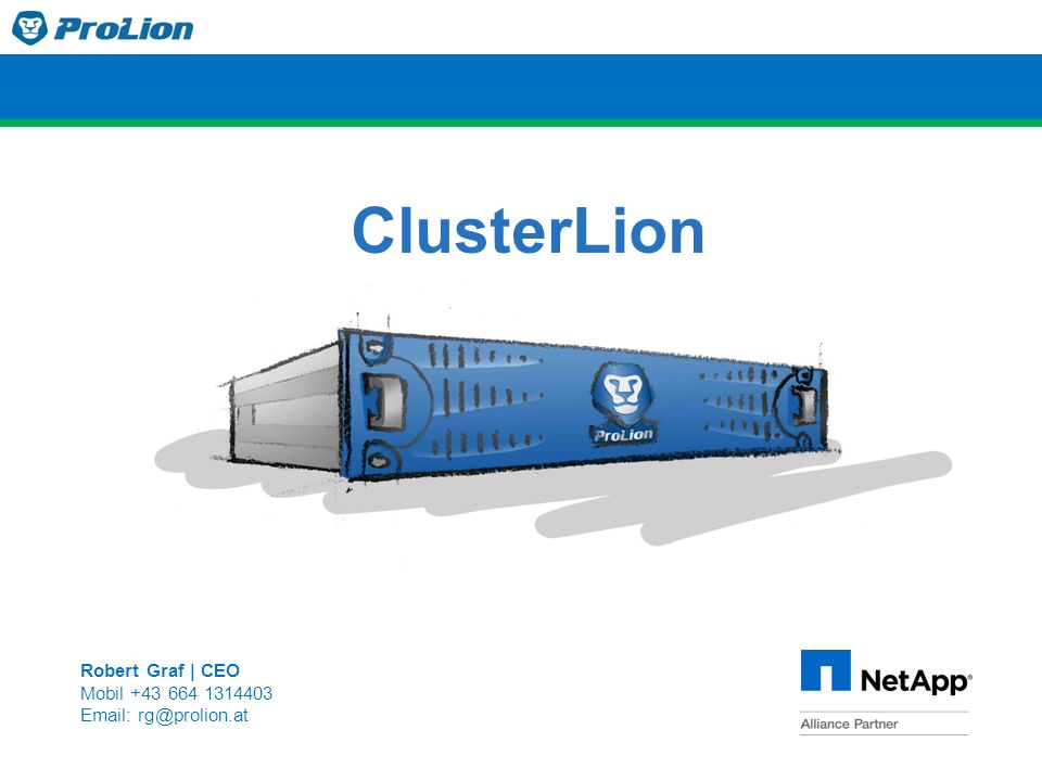 ClusterLion Robert Graf | CEO Mobil +43 664 1314403