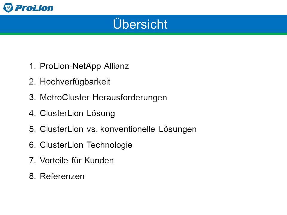 Übersicht ProLion-NetApp Allianz Hochverfügbarkeit