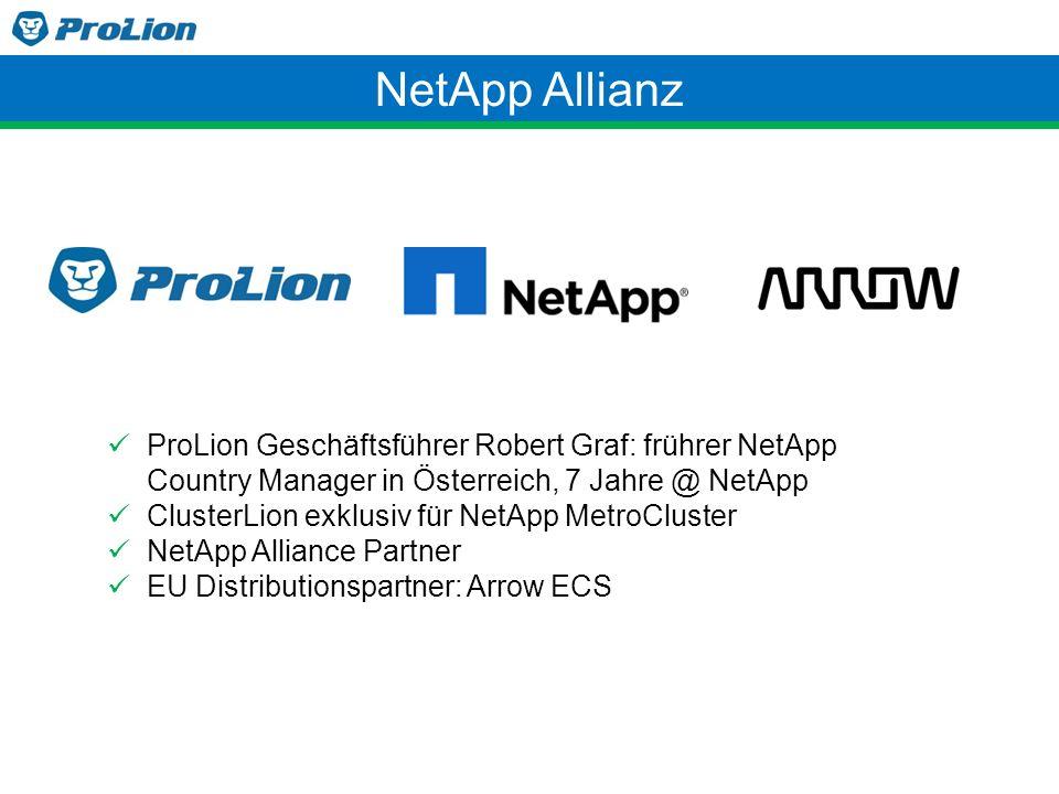 NetApp Allianz ProLion Geschäftsführer Robert Graf: frührer NetApp Country Manager in Österreich, 7 Jahre @ NetApp.