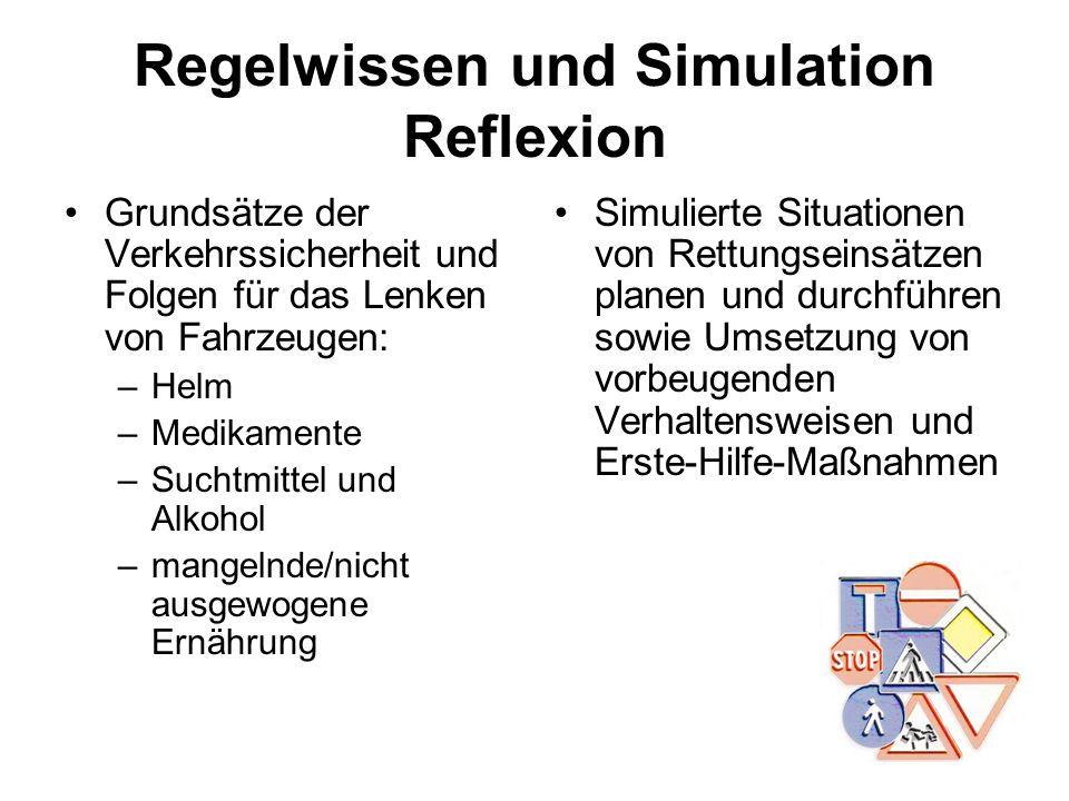 Regelwissen und Simulation Reflexion