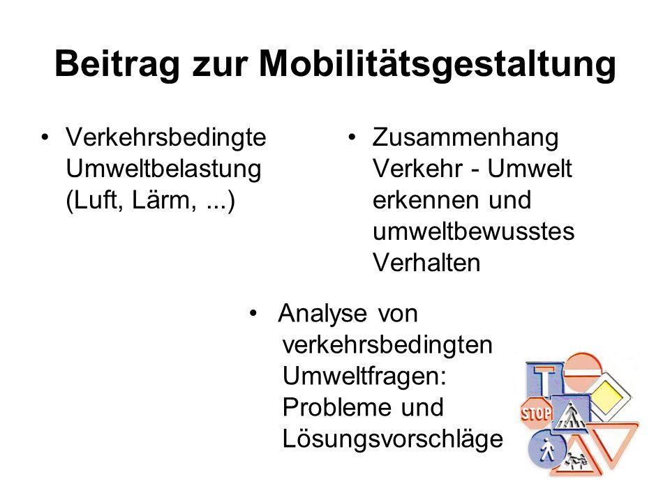 Beitrag zur Mobilitätsgestaltung