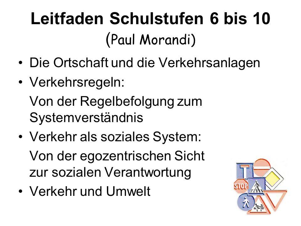 Leitfaden Schulstufen 6 bis 10 (Paul Morandi)