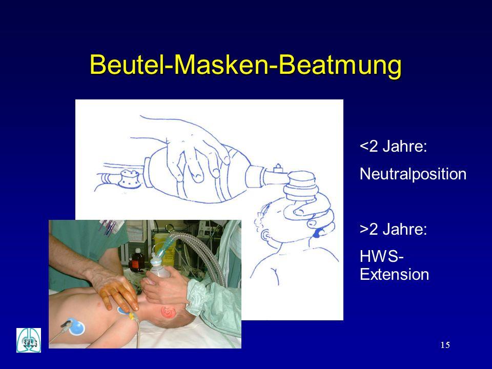 Beutel-Masken-Beatmung