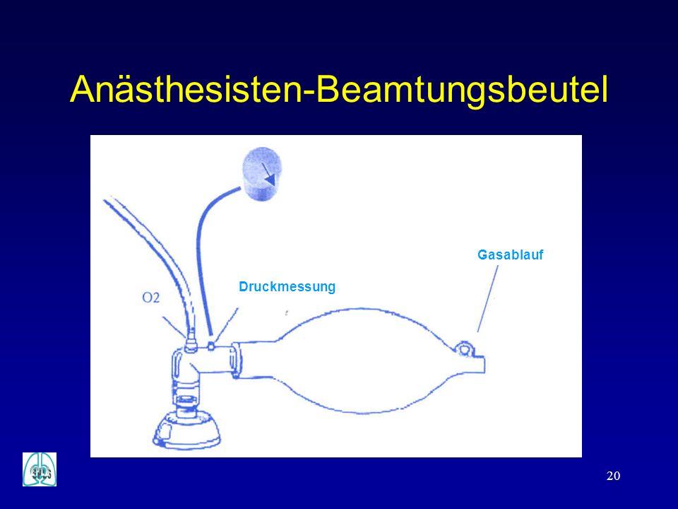 Anästhesisten-Beamtungsbeutel