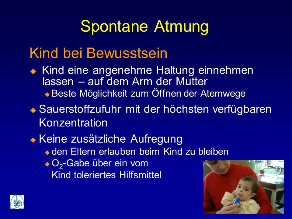Spontane Atmung Kind bei Bewusstsein