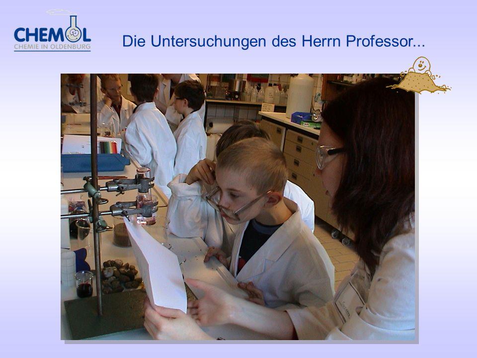 Die Untersuchungen des Herrn Professor...