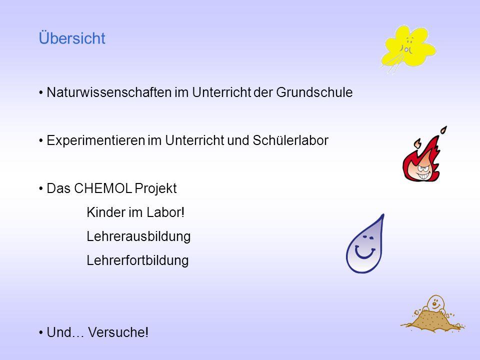 Übersicht Naturwissenschaften im Unterricht der Grundschule