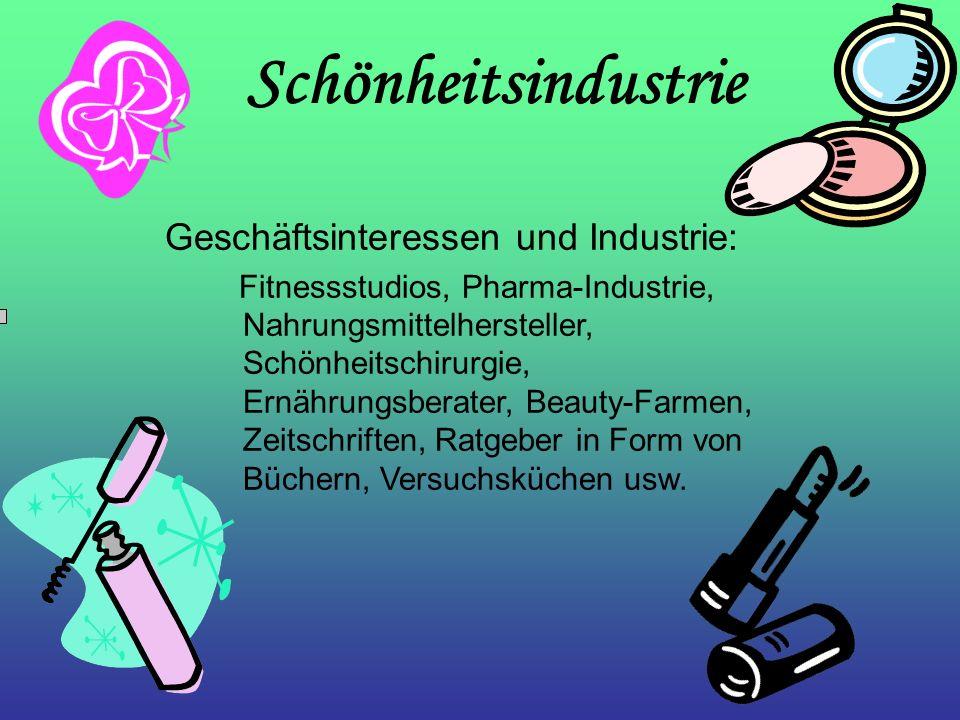 Schönheitsindustrie Geschäftsinteressen und Industrie: