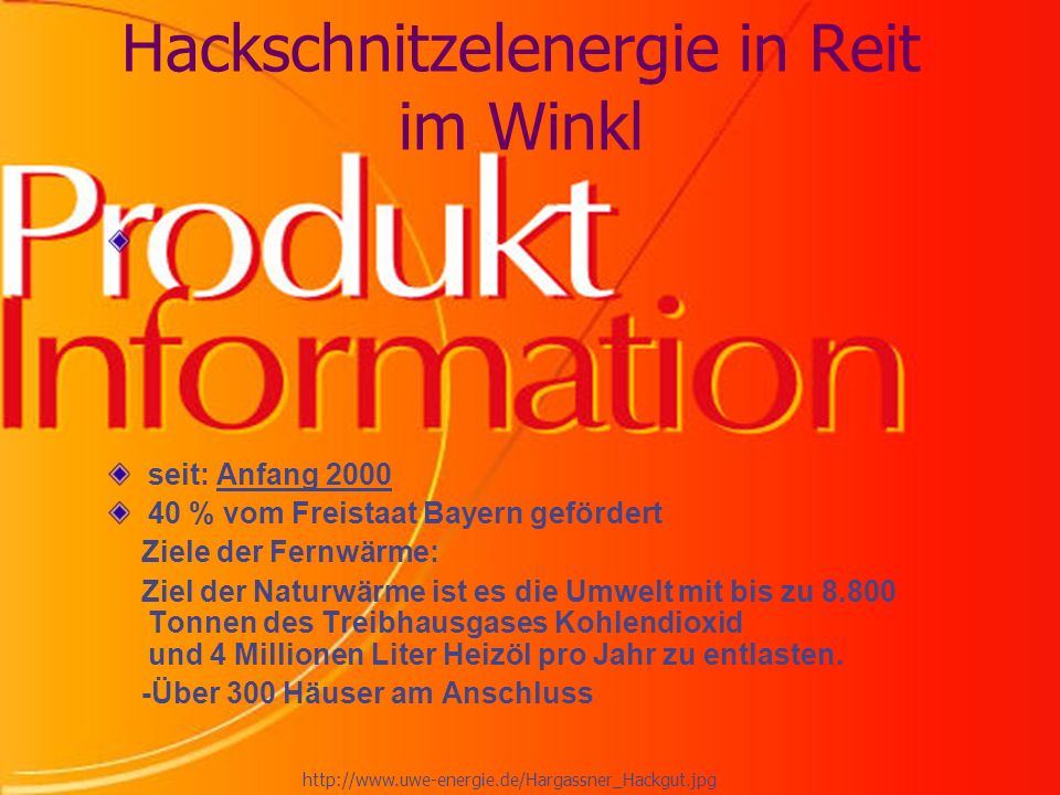 Hackschnitzelenergie in Reit im Winkl