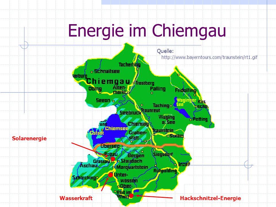 Energie im Chiemgau Quelle: Solarenergie Wasserkraft