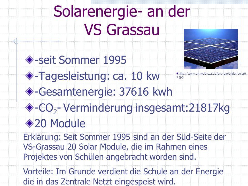 Solarenergie- an der VS Grassau