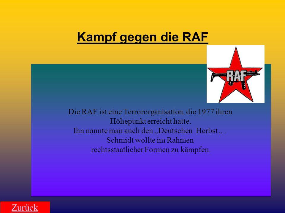 Kampf gegen die RAF Zurück