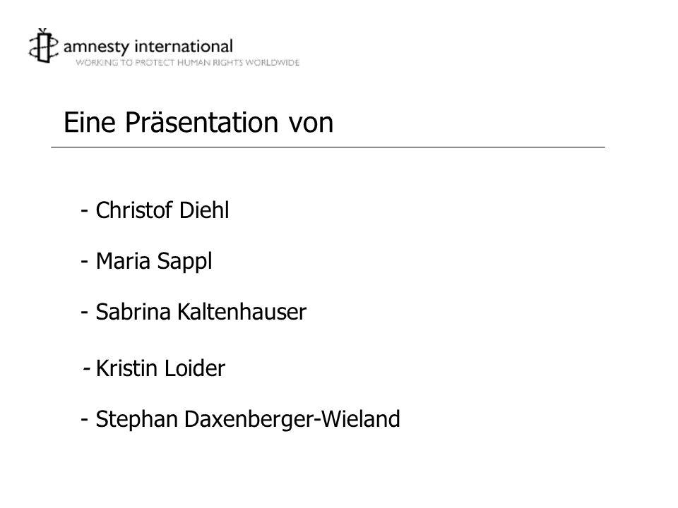 Eine Präsentation von - Christof Diehl - Maria Sappl