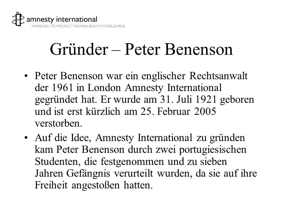 Gründer – Peter Benenson