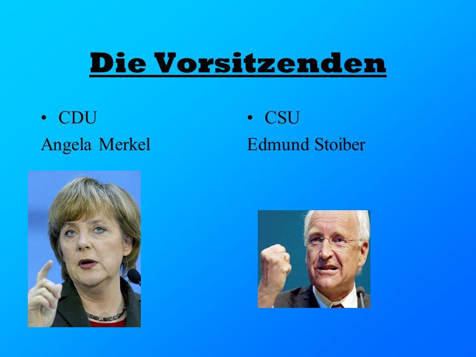 Die Vorsitzenden CDU Angela Merkel CSU Edmund Stoiber