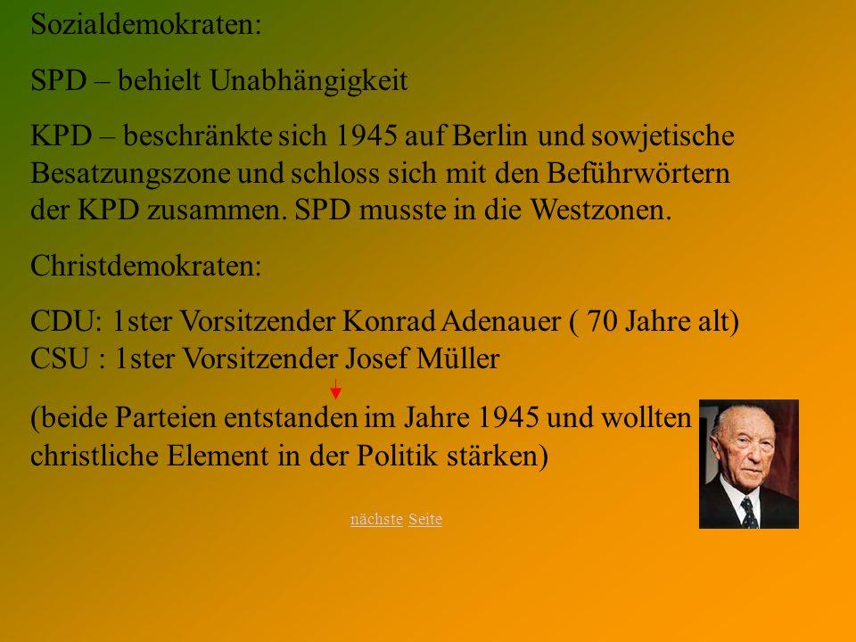 SPD – behielt Unabhängigkeit
