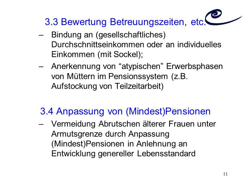 3.3 Bewertung Betreuungszeiten, etc.