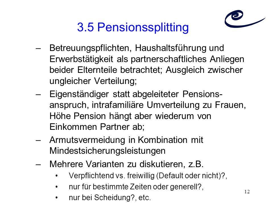 3.5 Pensionssplitting