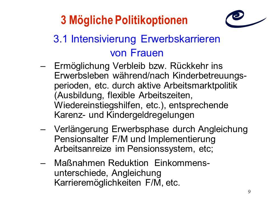 3 Mögliche Politikoptionen