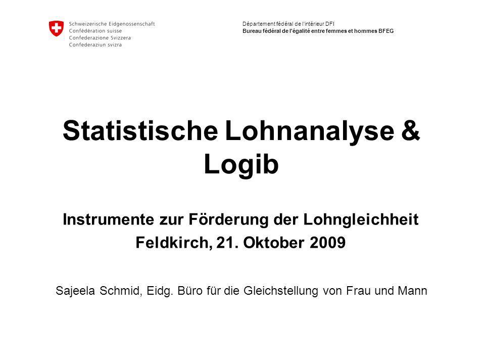 Statistische Lohnanalyse & Logib