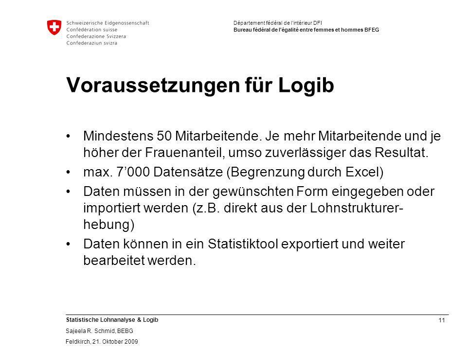 Voraussetzungen für Logib