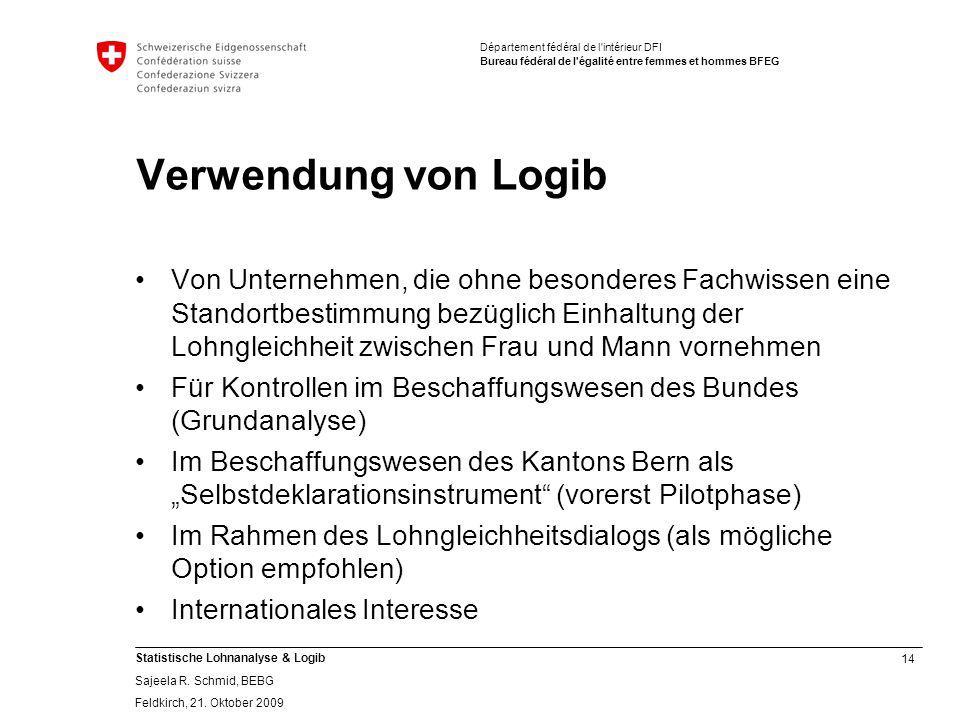 Verwendung von Logib
