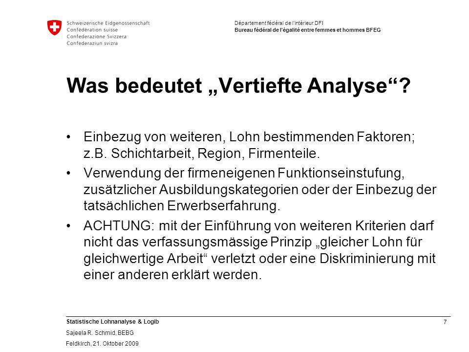 """Was bedeutet """"Vertiefte Analyse"""