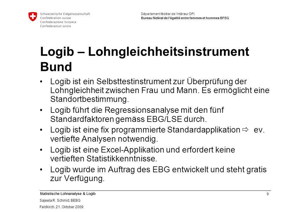 Logib – Lohngleichheitsinstrument Bund