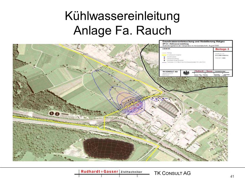 Kühlwassereinleitung Anlage Fa. Rauch