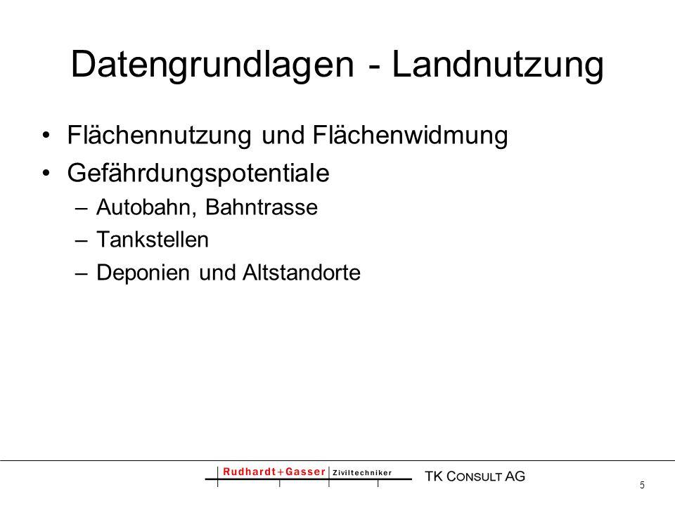Datengrundlagen - Landnutzung