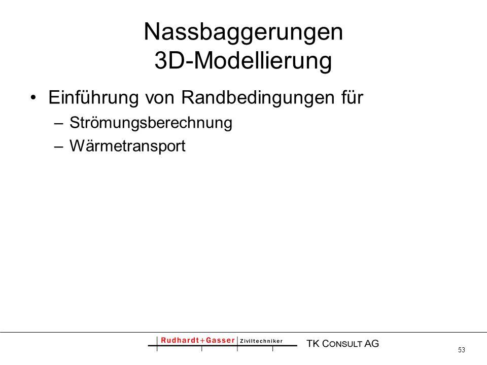 Nassbaggerungen 3D-Modellierung