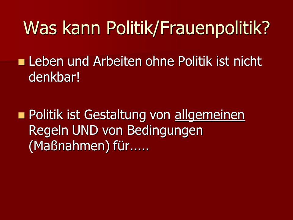 Was kann Politik/Frauenpolitik