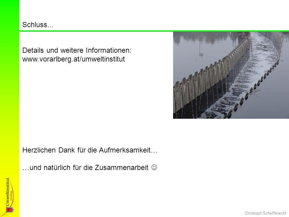 Schluss... Details und weitere Informationen: www.vorarlberg.at/umweltinstitut. Herzlichen Dank für die Aufmerksamkeit…