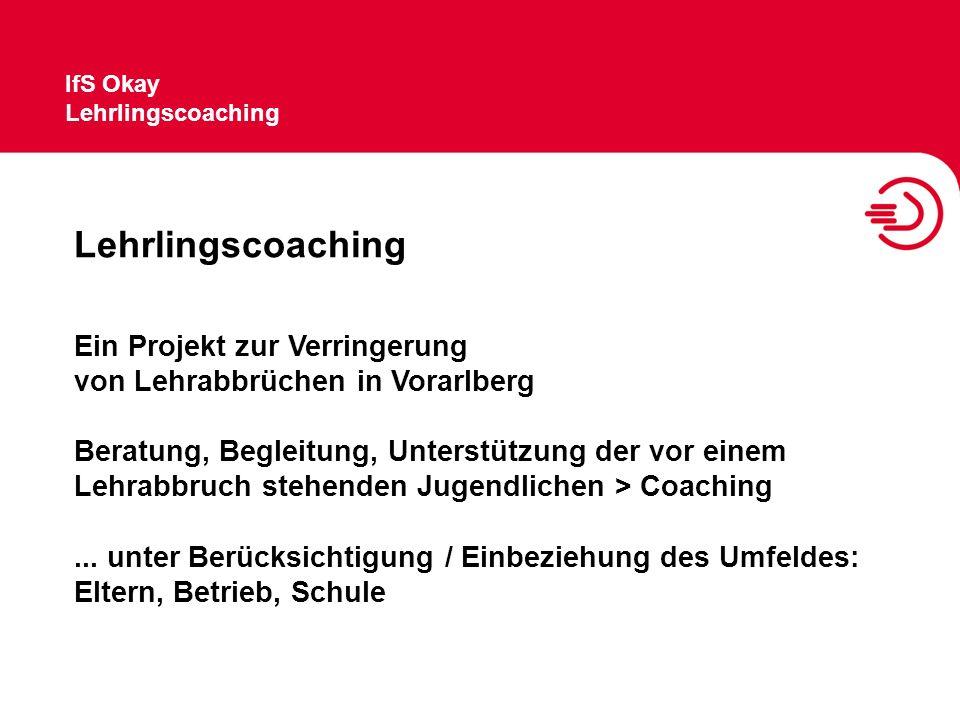 Lehrlingscoaching Ein Projekt zur Verringerung