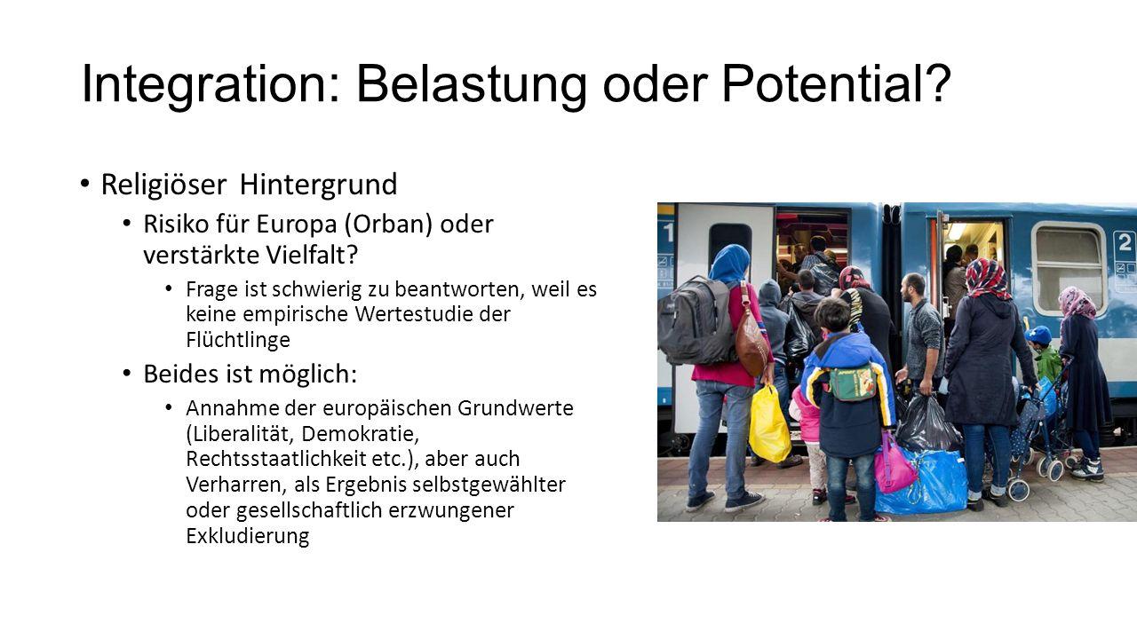 Integration: Belastung oder Potential